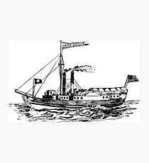 Steamship Photographic Print