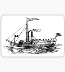 Steamship Sticker