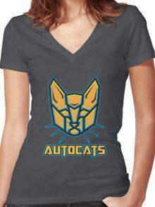 Autocats V2 Women's Fitted V-Neck T-Shirt
