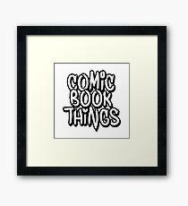 Comic Book Things Sticker Framed Print