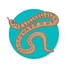 Brown Snake by BlueAsterStudio