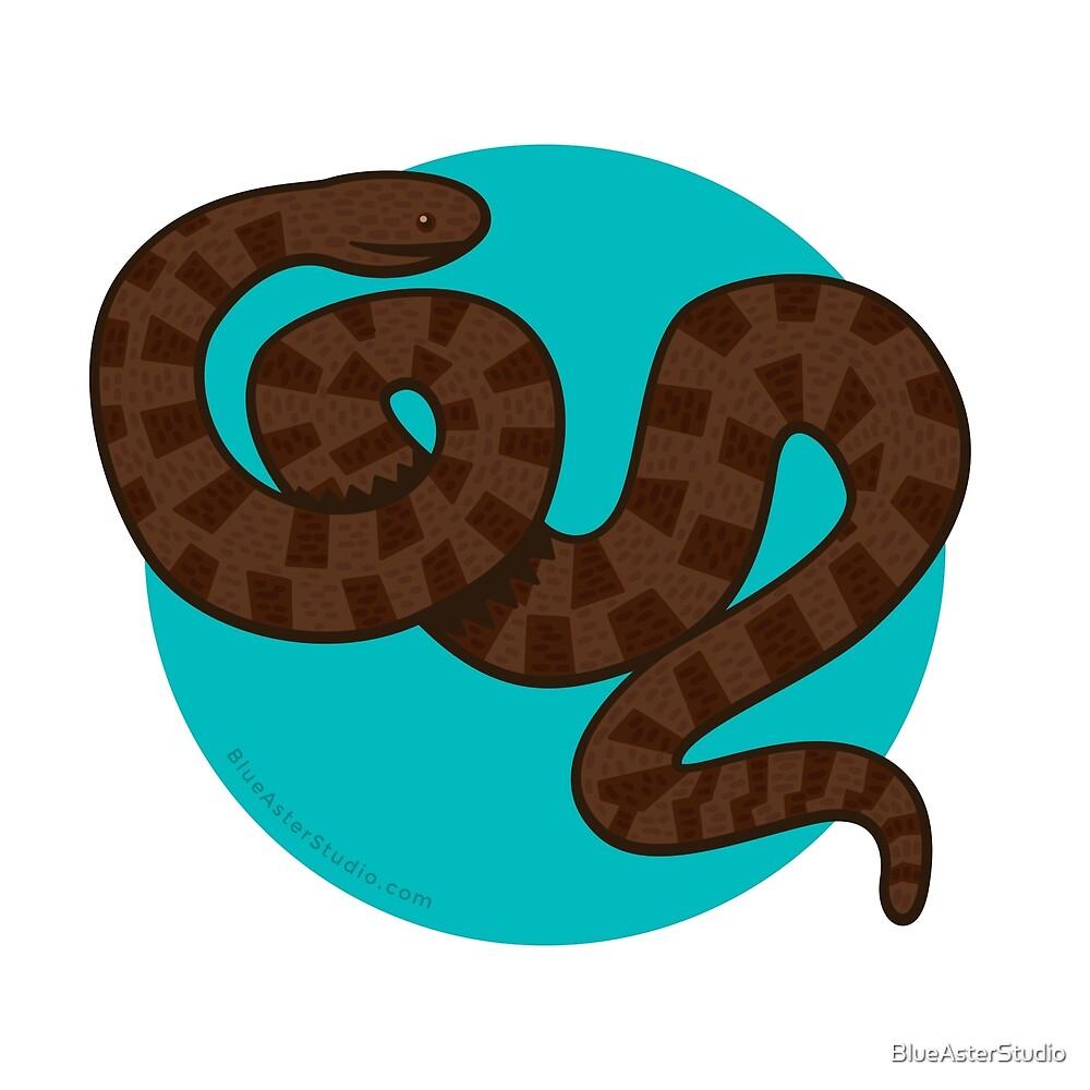 Brown Water Snake by BlueAsterStudio