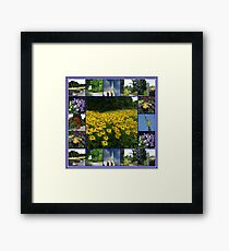 The Garden of the Lord - Floral Collage Framed Print