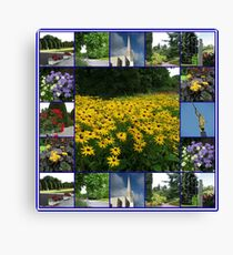 The Garden of the Lord - Floral Collage Canvas Print