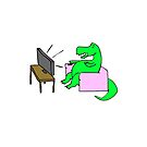 Lazy Dino by krisy254