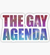 The Gay Agenda Sticker