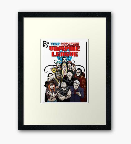 VAMPIRE LEAGUE Framed Print