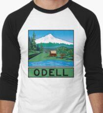 Oregon Scenic Byway - Odell Men's Baseball ¾ T-Shirt