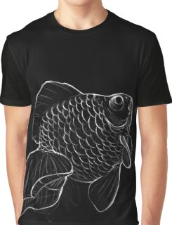 Sketchy Telescope Butterfly Goldfish Right Graphic T-Shirt