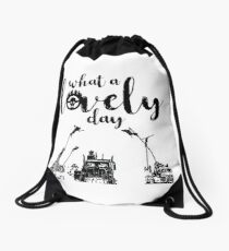 What a lovely day Drawstring Bag