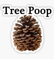 Neature walk: tree poop Sticker
