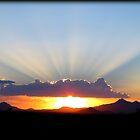 Crepuscular Rays by Kimberly Chadwick
