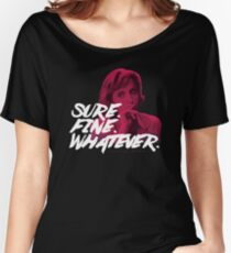 Sure. Fine. Whatever. (Pink) Women's Relaxed Fit T-Shirt