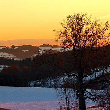 Colorful winter wonderland sundown V | landscape photography by patrickjobst