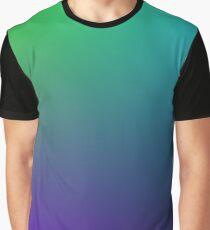 Blue Green Purple Black Gradient Graphic T-Shirt