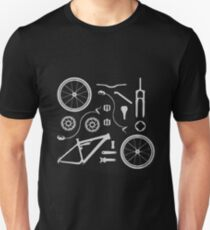 Bike Exploded, Bike Parts Full Suspension Airfix Unisex T-Shirt