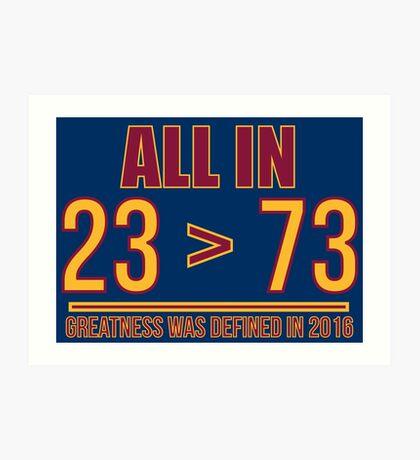 23 ist größer als 73 Kunstdruck
