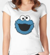 Cookie Monster (3) Women's Fitted Scoop T-Shirt