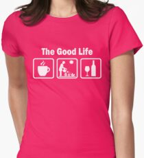 Womens Funny Gardening Shirt The Good Life Women's Fitted T-Shirt