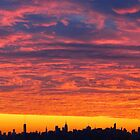Sunset skies over New York City  by Alberto  DeJesus