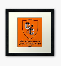 Chudley Cannons Logo with Motto Framed Print