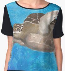 Turtle on an ocean adventure Chiffon Top