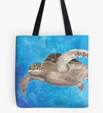 Turtle on an ocean adventure Tote Bag