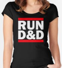 Run Dungeons and Dragons Women's Fitted Scoop T-Shirt