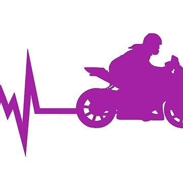 Motorrad Herzschlag von BeyondEvolved