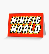 MINIFIG WORLD Greeting Card