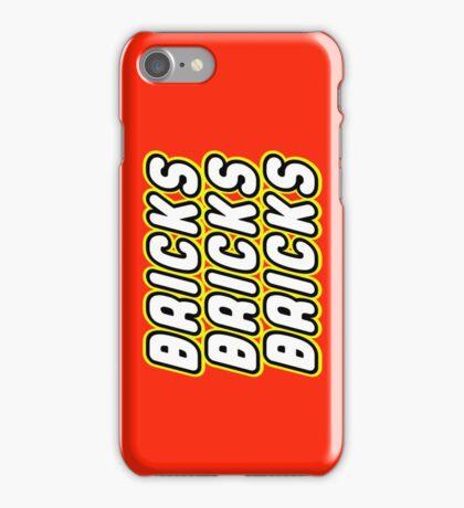 BRICKS BRICKS BRICKS, by Customize My Minifig iPhone Case/Skin
