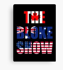 The Bloke Show Flags Canvas Print