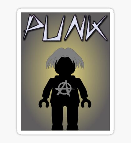 Punk Guitarist Minifig, Customize My Minifig Sticker