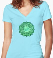 Allah  Ornaments 3        Women's Fitted V-Neck T-Shirt