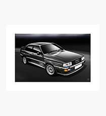 Poster artwork - Audi quattro in Charcoal grey Photographic Print