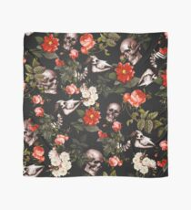 Skull and Floral Pattern Scarf