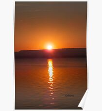 Reflecting on a Sunrise Poster