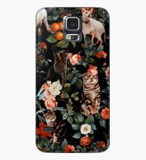 Floral and Cats Pattern Case/Skin for Samsung Galaxy