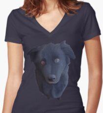 Portrait of my Dog (Original) Women's Fitted V-Neck T-Shirt