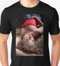 Sexy Blond Lying Unisex T-Shirt