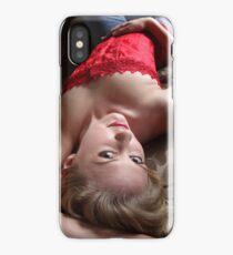 Sexy Blond Lying iPhone Case/Skin