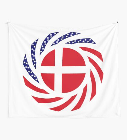 Danish American Multinational Patriot Flag Series Wall Tapestry