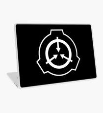 SCP Foudation Logo - White on Black Laptop Skin