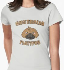 Platypus vintage design - Australian animal  Women's Fitted T-Shirt