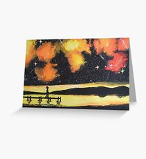 Under the sunset- colored galaxy Greeting Card