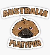 Platypus vintage design - Australian animal  Sticker