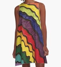 Rainbow Happiness A-Line Dress