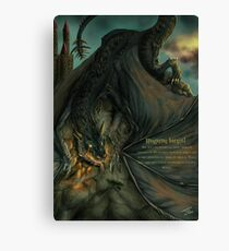 Hungarian horntail - With text version Canvas Print