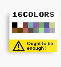COMMODORE 64 Color Palette Metal Print