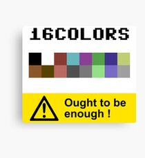 COMMODORE 64 Color Palette Canvas Print
